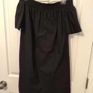 Black off shoulder dress small LBD